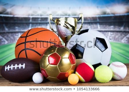Trophée gagner sport balle attribution football Photo stock © JanPietruszka