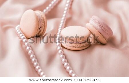 Süß Perlen Schmuck Seide Bäckerei Branding Stock foto © Anneleven