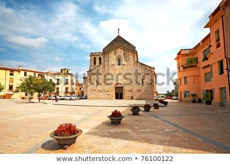 Spanje klooster gebouw hemel steen architectuur Stockfoto © borisb17