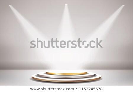 Arany három színpad terv háttér klub Stock fotó © SArts