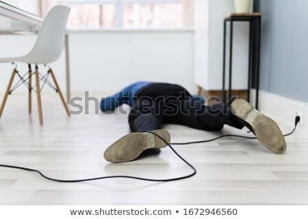 Człowiek nogi elektryczne przewód domu Zdjęcia stock © AndreyPopov
