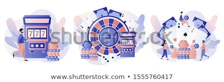 şanslı adam kumar kumarhane makine vektör Stok fotoğraf © robuart
