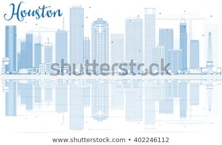 Houston ufuk çizgisi mavi binalar Stok fotoğraf © ShustrikS