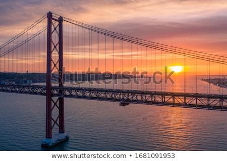Lisboa dourado silhueta simples turismo Foto stock © ShustrikS