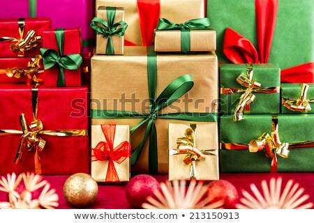 üç · kırmızı · Noel · renkli - stok fotoğraf © ilona75