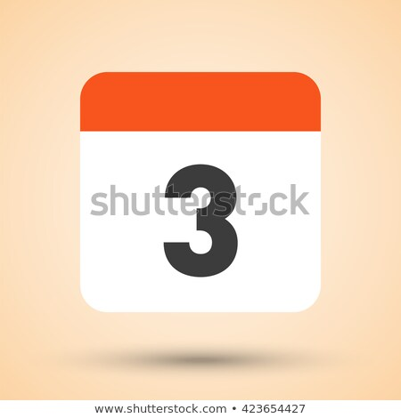 Simple black calendar icon with 3 june date isolated on white Stock photo © evgeny89