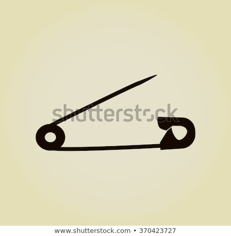 Open safety pin, simple black silhouette Stock photo © evgeny89