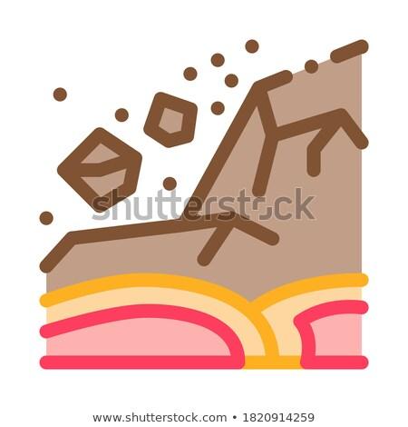 ertnquake highlands icon vector outline illustration Stock photo © pikepicture