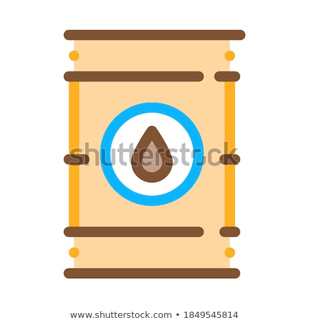 tightly closed gas barrel icon vector outline illustration Stock photo © pikepicture