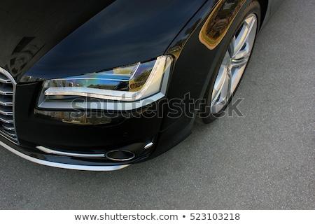 レトロな 黒 車 ヘッドライト 古い ヴィンテージ ストックフォト © vapi