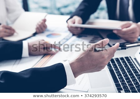 Financial Advisor And Business Analyst Working Stock photo © AndreyPopov