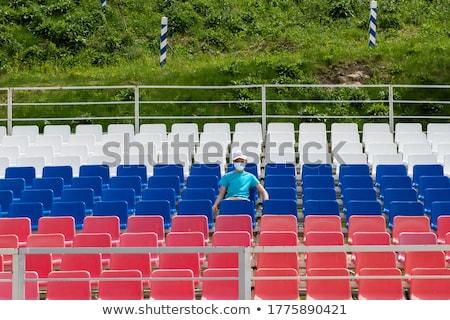 Solitário menino vazio estádio ao ar livre máscara Foto stock © olira