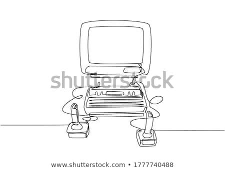 Consolá gamepad vetor metáfora tecnologia viver Foto stock © RAStudio