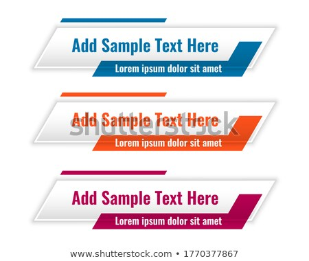 abstract lower third geometric banners in three colors Stock photo © SArts
