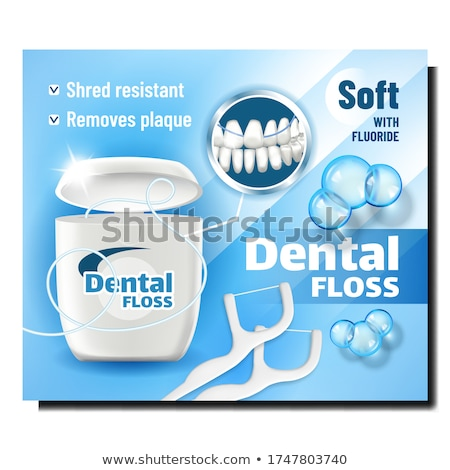 Dental Floss Oral Hygiene Product Banner Vector Stock photo © pikepicture