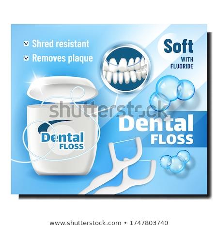 Fogselyem orális higiénia termék szalag vektor Stock fotó © pikepicture