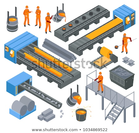 Fábrica producción icono vector signo Foto stock © pikepicture