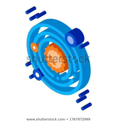 Solaranlage milchig Weg Symbol Vektor Stock foto © pikepicture