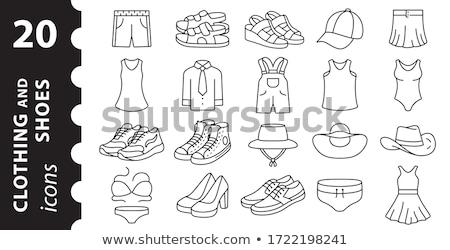 Par sapatos vetor mulher fundo vermelho Foto stock © Dahlia