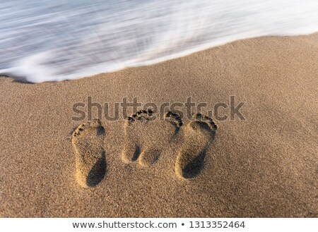 Stock photo: Footstep sculpted