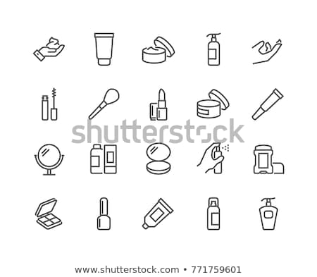 Simple Make-up icon set, Health and beauty icons stock photo © stoyanh