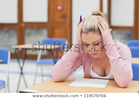 adult student with test anxiety stock photo © lisafx