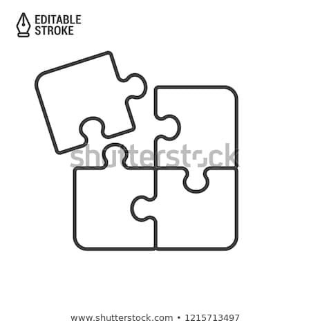 Jigsaw puzzle icons Stock photo © cidepix
