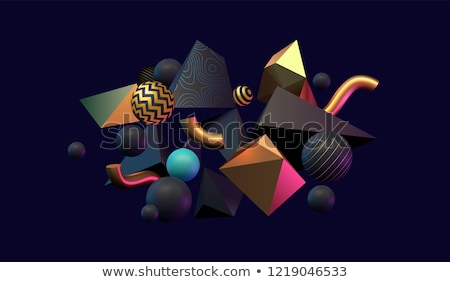 Golden 3D abstraction Stock photo © FransysMaslo