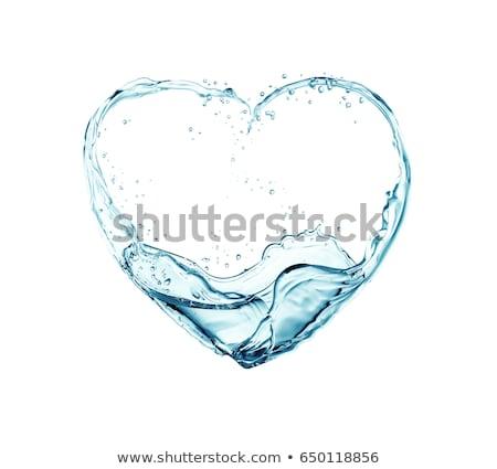 vino · corazón · rojo · blanco · fondo · cena - foto stock © arsgera