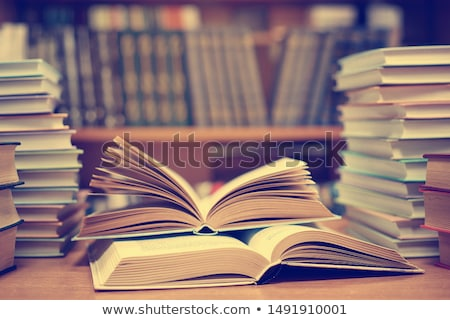 Student with open text book Stock photo © lovleah