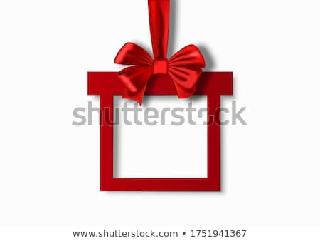 red ribbon frame stock photo © leeser