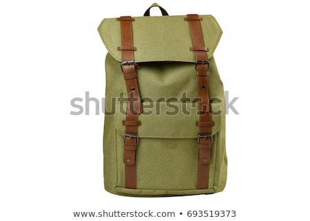 Reizen Maakt een reservekopie pack geïsoleerd witte achtergrond Stockfoto © Raduntsev