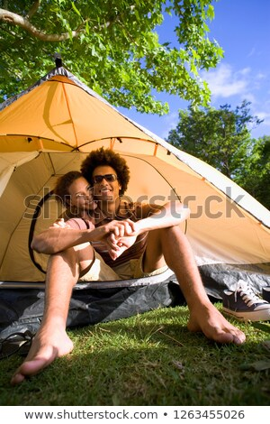 Camping Wasser Gras Arbeit Natur Stock foto © photography33