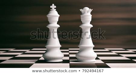 Blanco rey del ajedrez ajedrez superficial campo enfoque Foto stock © creisinger