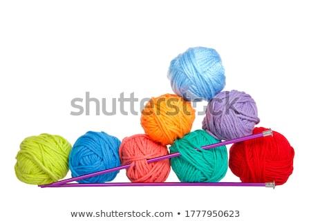 kleurrijk · garen · naalden · mand - stockfoto © deyangeorgiev