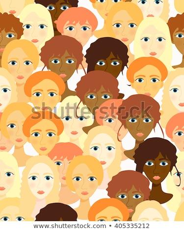 Morena mulheres escritório reunião negócio Foto stock © pekour