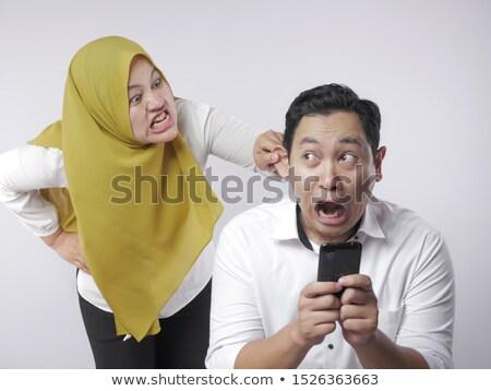 Сток-фото: A Couple Having A Fight