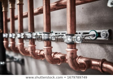 Plumber fitting copper pipes Stock photo © photography33