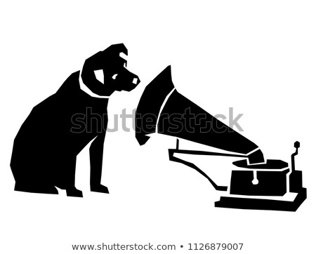 dog and gramophone Stock photo © james2000