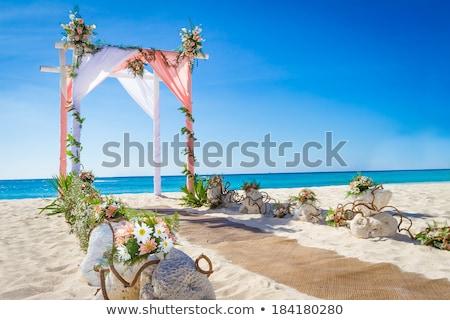 beach side gazebo stock photo © ravensfoot
