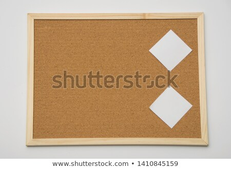 blank index card stick to a cork notice board stock photo © latent