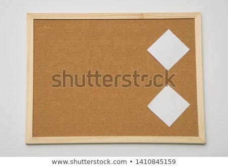 Сток-фото: �рилепите · пустую · учетную · карточку · к · пробковой · доске · объявлений