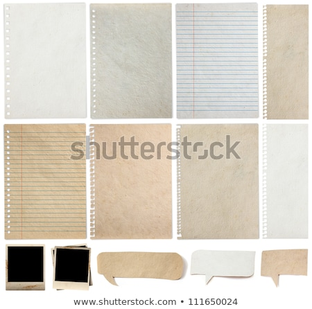Old lined paper in a notepad. Stock photo © latent