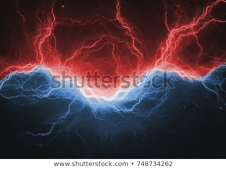 Stok fotoğraf: Abstract Background Blue And Red Ice And Fire