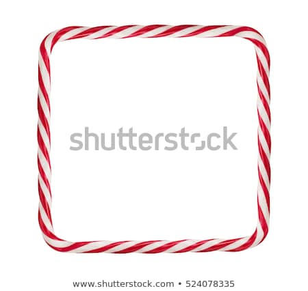 Frame of christmas candy cane isolated on white  Stock photo © happydancing
