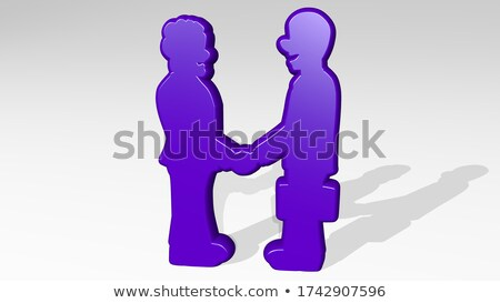 Man stood with hands clasped Stock photo © photography33