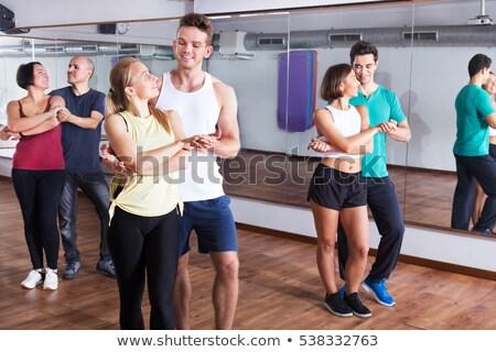 Stock fotó: Hát · tánc · pár · hátsó · nézet · férfi · táncos