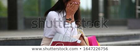 устал · молодые · брюнетка · женщину - Сток-фото © smithore