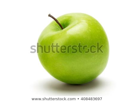 Yeşil elma yalıtılmış beyaz atış Stok fotoğraf © vkraskouski