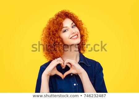 Сток-фото: портрет · Cute · женщину · лице · модель